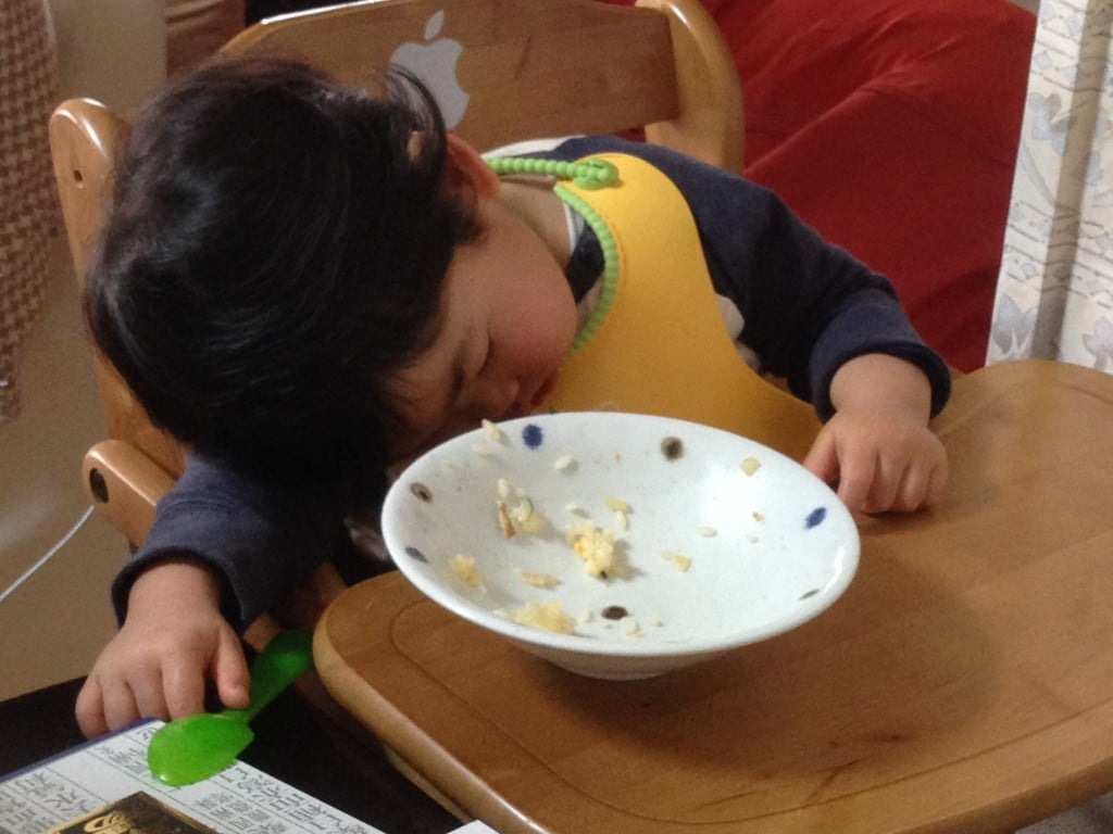 子供はよく寝る