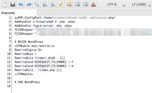 .htaccessファイル編集開始