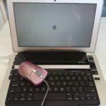 水没MacBook Airの電源が入った